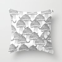 Mushrooms Festival Throw Pillow