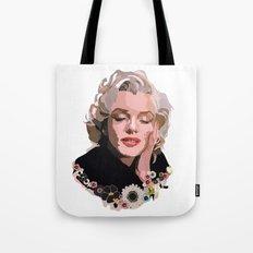 Marilyn Monroe with Flowers Tote Bag