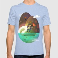 Island Lullaby Mens Fitted Tee Tri-Blue SMALL