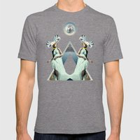 Crystalfilm Mens Fitted Tee Tri-Grey SMALL