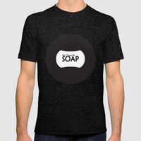 Don't Drop the SOAP Mens Fitted Tee Tri-Black SMALL