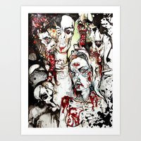 Degeneration. Art Print