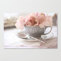 Little Gray Teacup Canvas Print