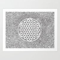 Flower Of Life Drawing M… Art Print