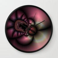 Lady Bug Fractal Wall Clock