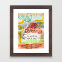 As The Starling Builds A… Framed Art Print
