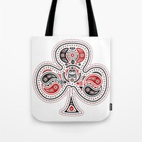 83 Drops - Clubs (Red & … Tote Bag