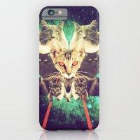 iPhone & iPod Case featuring Galactic Cats Saga 1 by Carolina Nino