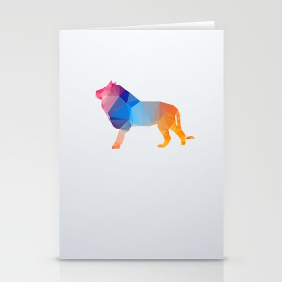 Glass Animal Series - Lion Stationery Card