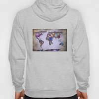 Stars world map. Space. Hoody