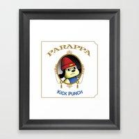 Parappa - Kick Punch Framed Art Print