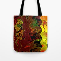 Palm and mysterious shape Tote Bag