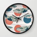 Whales and Polka Dots Wall Clock
