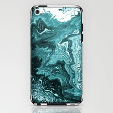 Yumiko - spilled ink painting abstract minimal ocean wave water sea monochromatic trendy hipster art iPhone & iPod Skin