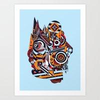EL BARTO ~ BLUE Art Print