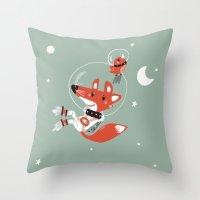 Space Fox Throw Pillow