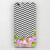 FLORAL CHEVRON iPhone & iPod Skin