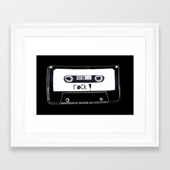 Rock your world! Framed Art Print