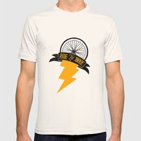 Ride Yo' Bike Mens Fitted Tee Natural SMALL