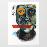 Geometry Face Art Print