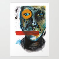 Geometry Face Art Print