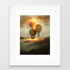 A Trip down the Sunset Framed Art Print