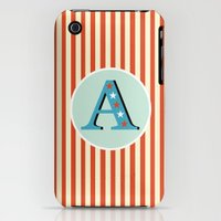 iPhone 3Gs & iPhone 3G Cases featuring Letter A by Cruz