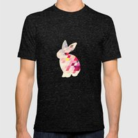 Bunny Pattern Mens Fitted Tee Tri-Black SMALL