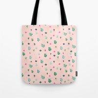 Mini Cactus Moon Tote Bag