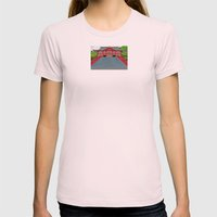 Red Temple Womens Fitted Tee Light Pink SMALL