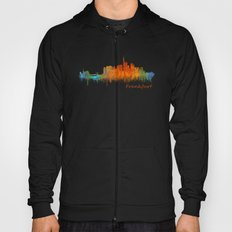 Frankfurt am Main, City Cityscape Skyline watercolor art v2 Hoody
