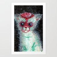 Kitty Popped Art Print