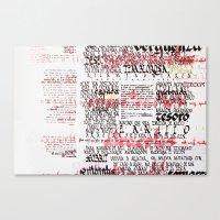 Calligraphic Poster Canvas Print
