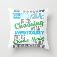 Procrastination Throw Pillow