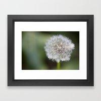 Dandelion Parachute Ball Framed Art Print