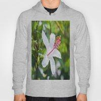 White Hibiscus Hoody