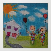 Canvas Print featuring We're Glad it never Rained today by Cally's Creations