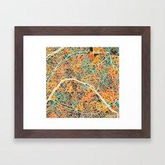 Paris mosaic map #2 Framed Art Print