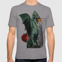 Draco Mens Fitted Tee Athletic Grey SMALL