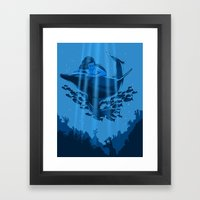 The Underwater Fantasy Framed Art Print