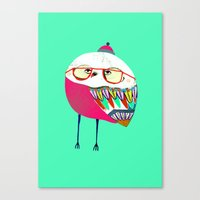Owls Are Cool Canvas Print