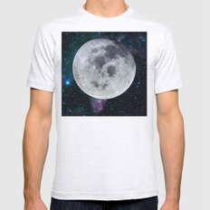 Moon And The Stars Mens Fitted Tee Ash Grey SMALL