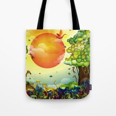 Jungle of colors Tote Bag