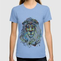 The Lion  Womens Fitted Tee Athletic Blue SMALL