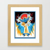 Death To The Blue Jays Framed Art Print