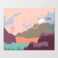 Pink Sky Mountain Canvas Print