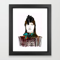 Warrior Fashion Portrait Framed Art Print