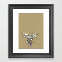 Awkward Deer Framed Art Print