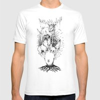 Forest Mens Fitted Tee White SMALL