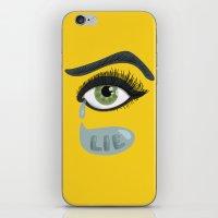 Green Lying Eye With Tears iPhone & iPod Skin